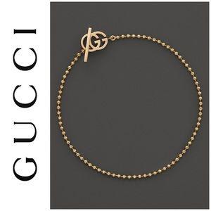 Gucci 18k Solid Gold Running G Bracelet NWT